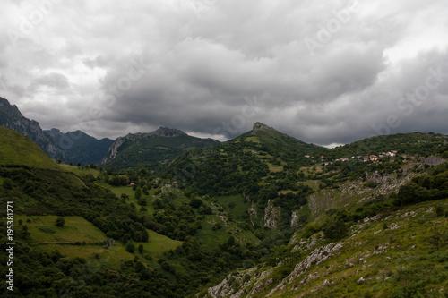 Aluminium Zomer Landscape of Asturias, Spain