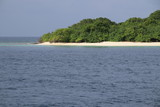 Insel auf den Malediven - 195382889