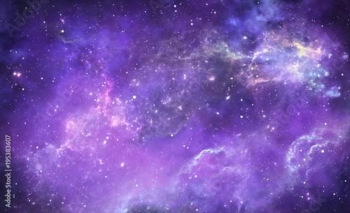 Plexiglas Nasa Purple deep space nebula with stars