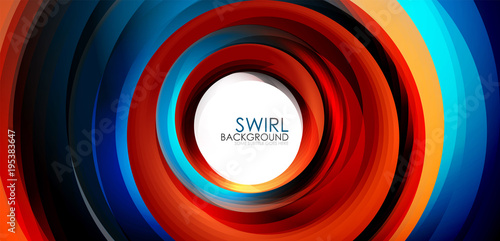 Aluminium Hoogte schaal Spiral swirl flowing lines 3d effect abstract background