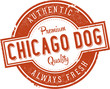 Chicago Style Hot Dog Vintage Sign