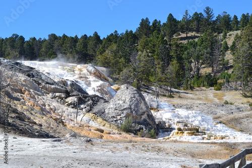 Fotobehang Bergrivier Yellowstone
