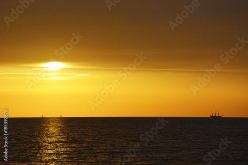 Aluminium Zee zonsondergang luce dal cielo