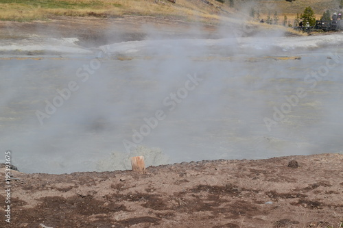 Foto op Canvas Donkergrijs Yellowstone