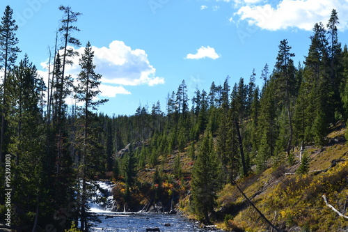 Fotobehang Zwart Yellowstone