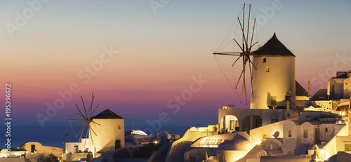 In de dag Santorini Oia village at sunset