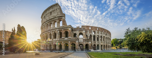 Foto op Plexiglas Rome Colosseum in Rome with morning sun