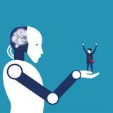 Robot technology-winning investor - 195396812