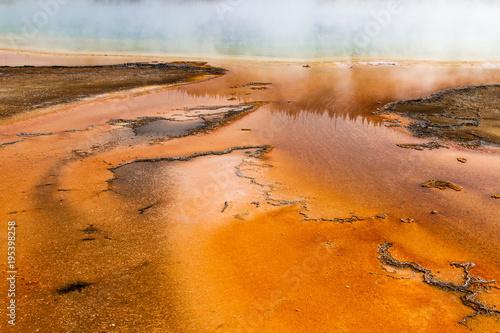 Fotobehang Oranje eclat Grand Prismatic Spring 21