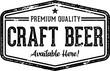 Vintage Craft Beer Bar Sign