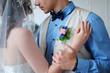 Джентльмен и леди. Жених и невеста. Стильная свадьба. Белый интерьер. Свадебные украшения. Стиль жизни.