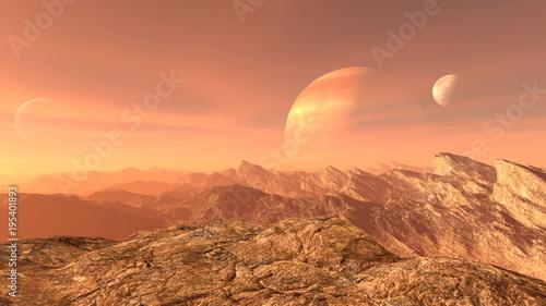 Staande foto Oranje eclat 岩山