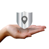 Hands Holding a Shield - Location - 195402223