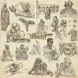 Religion, Spirit Life, Religious - An hand drawn collection on old paper. - 195402635