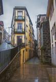 Colorful city street in Porto, Portugal. European urban architecture