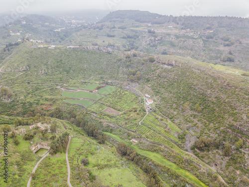 Fotobehang Pistache beautiful air views in Canarian islands