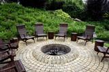 fire pit rustic backyard chair - 195407045