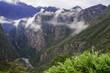 Mist among Andes peaks near Machu Picchu