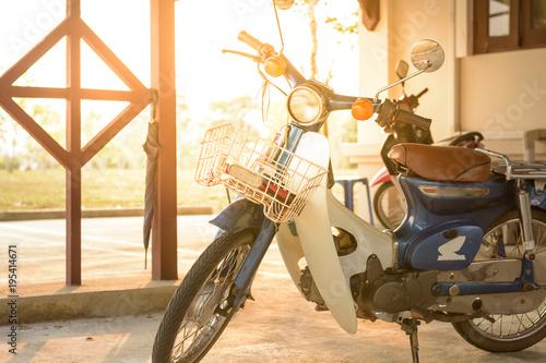 Foto op Canvas Fiets Old motorbike