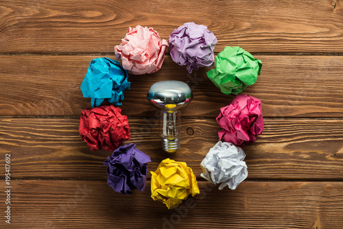 Foto op Aluminium Bol Concept of great outstanding idea.