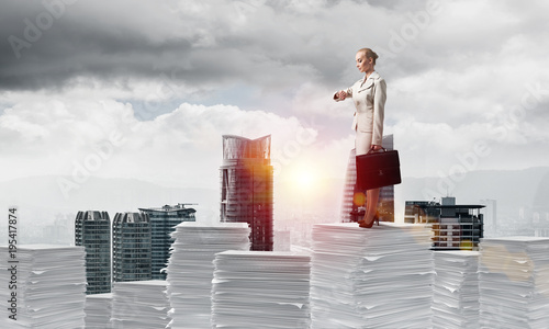 Successful confident business woman in suit. - 195417874