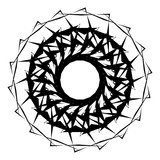 Geometric radial element. Abstract concentric, radial geometric motif - 195420613