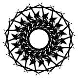 Geometric radial element. Abstract concentric, radial geometric motif - 195420622