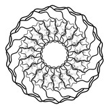 Geometric radial element. Abstract concentric, radial geometric motif - 195420857