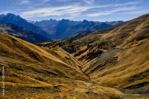 Fotobehang Landschappen Italy, Dolomite mountains, Sella pass