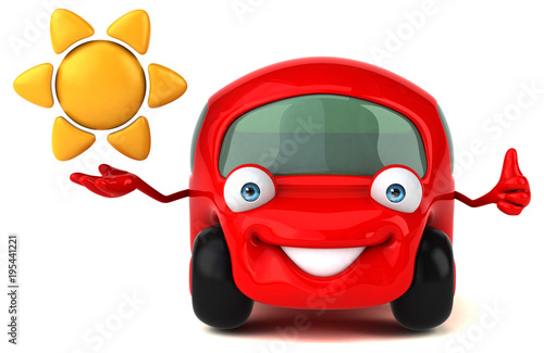 Plexiglas Auto Fun car - 3D Illustration