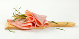 thin slices of ham and rosemary - 195441468