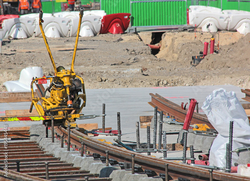 Foto op Canvas Spoorlijn travaux sur rails