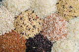 Multicolor and Different rice background, Variouse rice for eating healthy - 195457011
