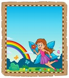 Parchment  Happy Fairy Theme 1 Wall Sticker