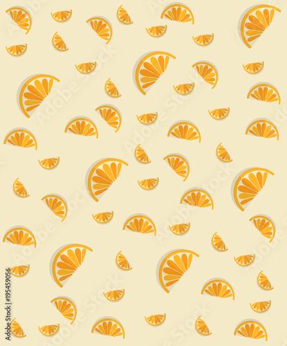 Seamless pattern orange fruit. Vector illustration. - 195459056