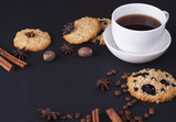 Espresso with oatmeal cookies - 195467272