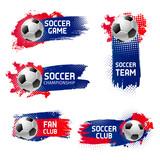 Vector soccer football sport game emblems - 195474048