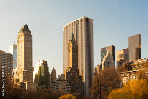 Foto op Aluminium New York Skyline of Midtown Manhattan from Central Park, New York City, New York, USA