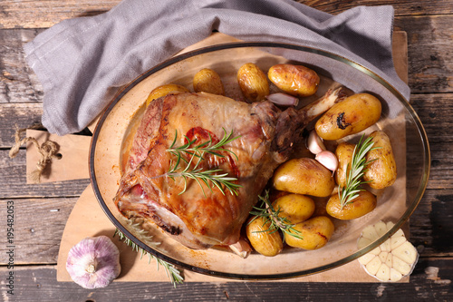 lamb meat and potato