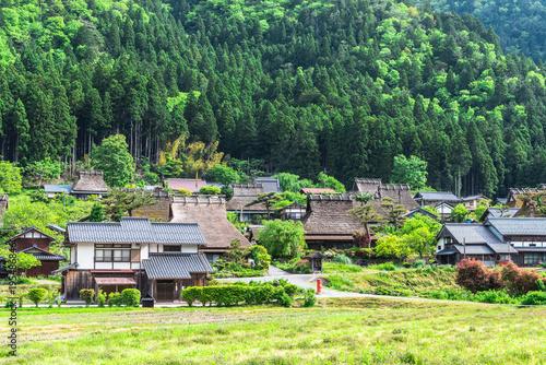 Papiers peints Kyoto 新緑の美山かやぶきの里 京都