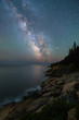The Milky Way over Otter Cove in Acadia National Park Maine