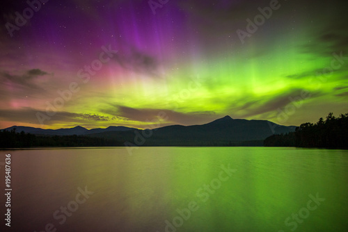 Plexiglas Noorderlicht Northern Lights Over The White Mountains Of New Hampshire