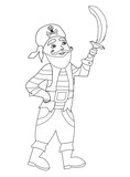 Funny Pirate – Coloring Book Wall Sticker
