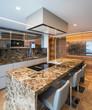 Modern marble kitchen with island