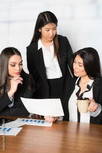 Businesswomen Working In An Office