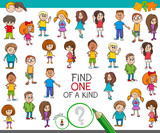 find one of a kind game with children characters - 195499823