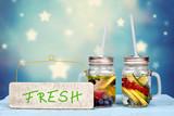 frisches Wasser mit Früchten