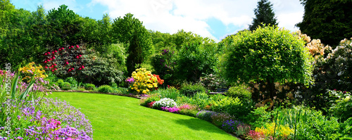 beautiful garden panorama