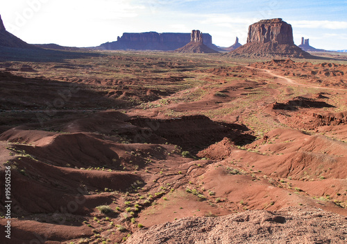 Fotobehang Zalm Monument Valley on Utah and Arizona border