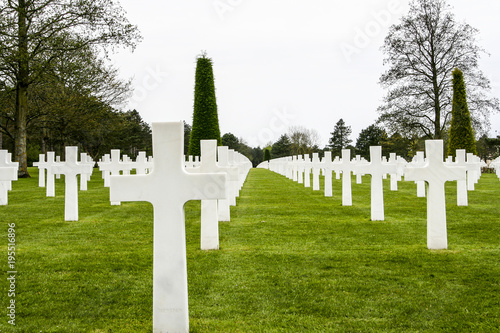 Second world war cemetery in Normandy Poster